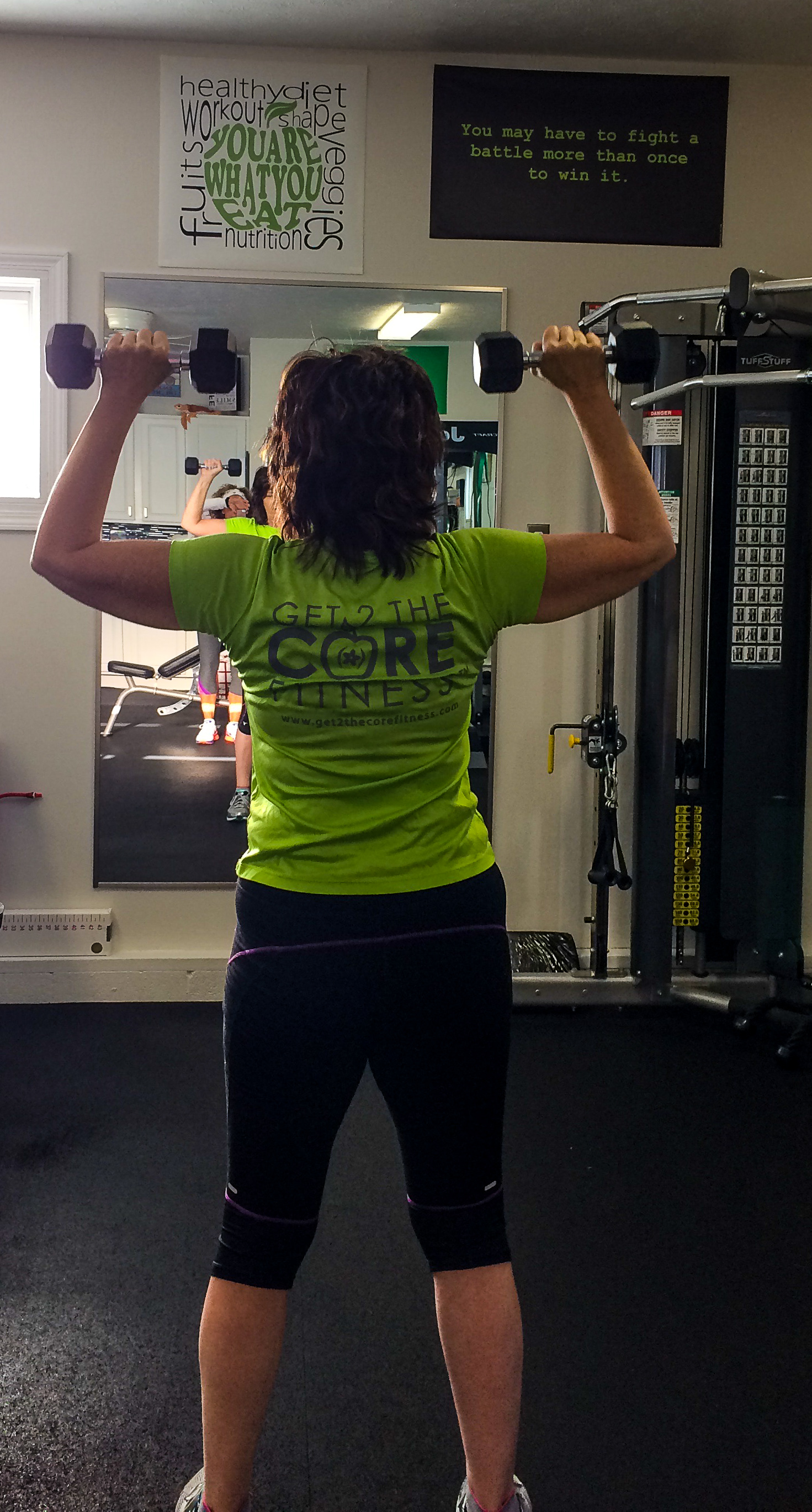 Beth Brinkley began working out at Get 2 the Core Fitness two years ago,  and is proud that she feels more comfortable in her clothes, she makes  better ...